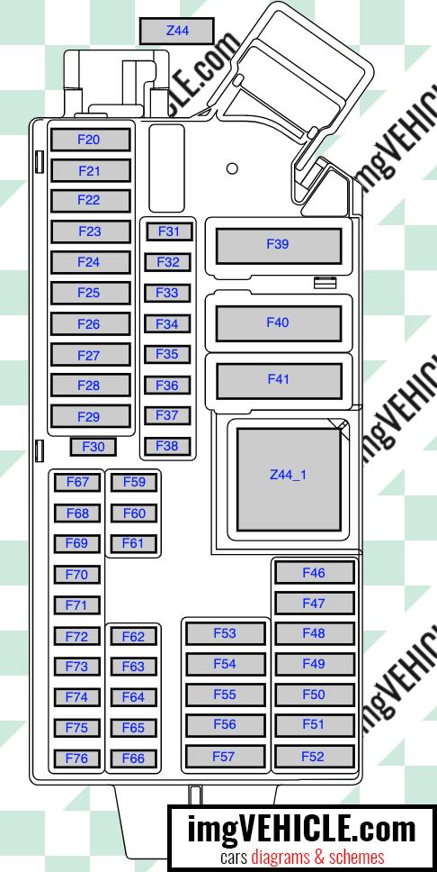 BMW G20 G21 Sicherungskasten Diagramm 4