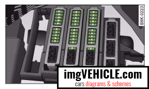 Audi A4 B8 (2008-2016) Fuse box diagrams & schemes - imgVEHICLE.com | Audi B8 Fuse Box |  | imgVEHICLE.com