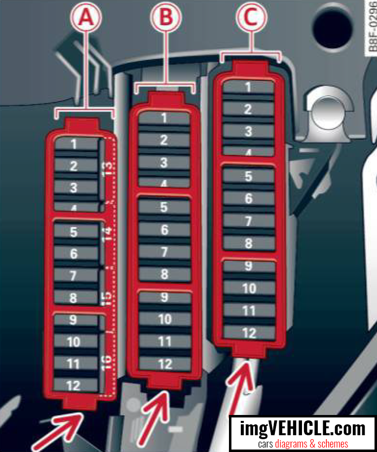 Fuse Box Q5 : Audi q i fuse box diagrams schemes imgvehicle