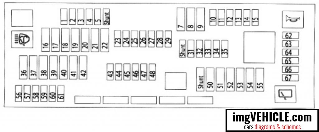 BMW X3 II (F25) Fuse box glove compartment fuse box