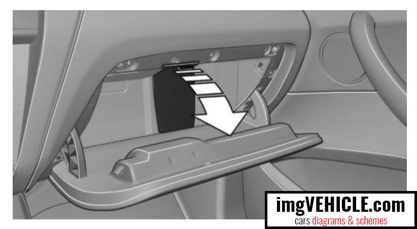 BMW X3 II (F25) Fuse box glove compartment fuse box location