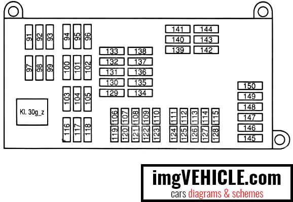BMW X5 II (E70) Fuse box cargo bay fuse box diagram