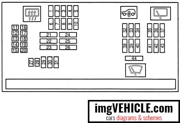 BMW X5 II (E70) Fuse box interior fuse box diagram