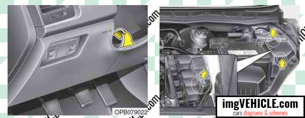 Hyundai i20 I (PB) Fuse box fuse box location