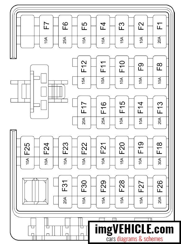 Hyundai Santa Fe SM Fuse box diagrams & schemes - imgVEHICLE.com