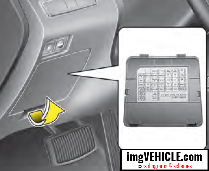 Hyundai Sonata VI YF (2010-2014) Fuse box diagrams & schemes -  imgVEHICLE.com | 2005 Hyundai Sonata Fuse Diagram |  | imgVEHICLE.com