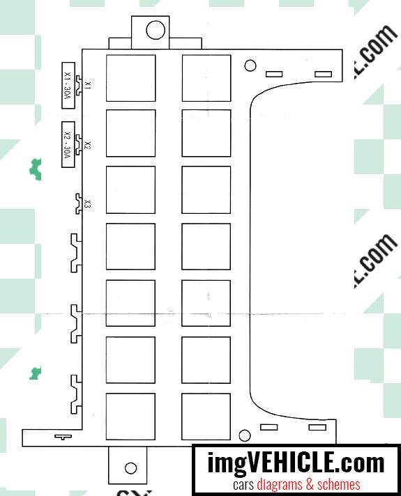Mercedes-Benz A Class II (W169) Fuse box footrest fuse box diagram