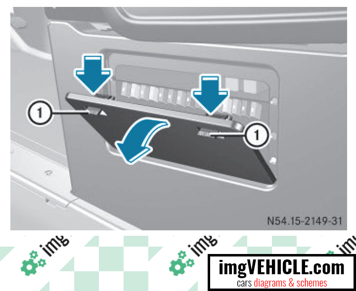Mercedes-Benz Sprinter II (W906) Fuse box fuse box under the left front seat location