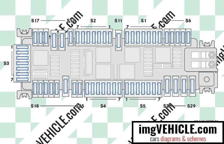 Mercedes-Benz Vito III (W447) Fuse box co-driver's footwell fuse box diagram