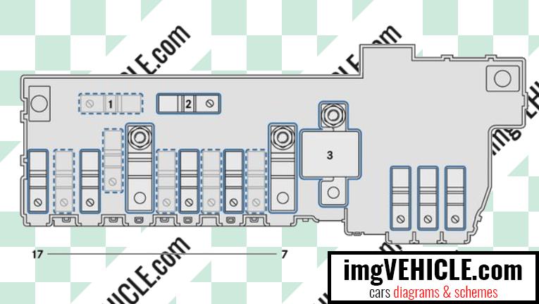 Mercedes-Benz Vito III (W447) Fuse box pre-fuse box diagram