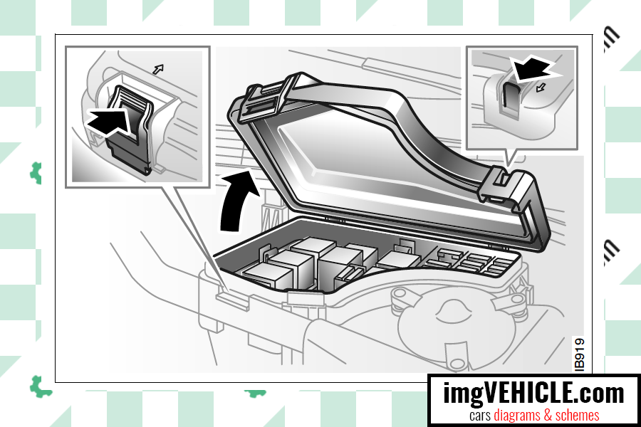 Saab 9-3 I Fuse box engine bay fuse box location