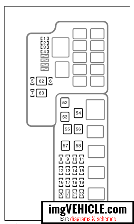 toyota camry xv30 fuse box diagrams  u0026 schemes
