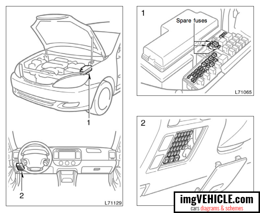 toyota camry xv30 fuse box diagrams & schemes - imgvehicle.com  imgvehicle.com