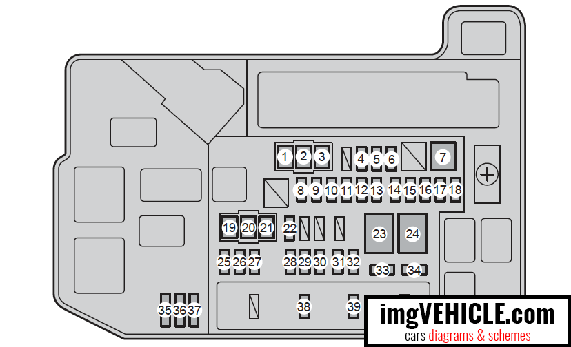 Toyota Prius Xw30 2009 2015 Fuse Box Diagrams Schemes Imgvehicle Com