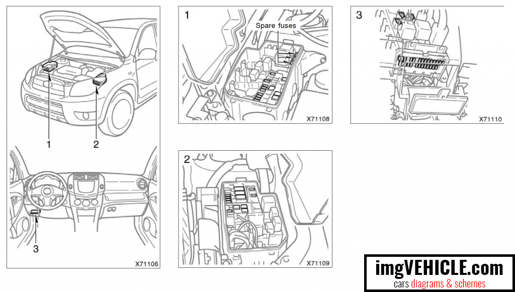 toyota rav4 xa30 fuse box diagrams & schemes imgvehicle com 2006 toyota rav4 fuse box diagram at Toyota Rav4 Fuse Box Diagram
