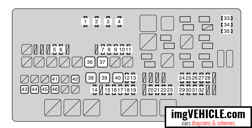 Toyota Tundra II (2007-2018) Fuse box diagrams & schemes - imgVEHICLE.com | 2014 Tundra Fuse Diagram |  | imgVEHICLE.com